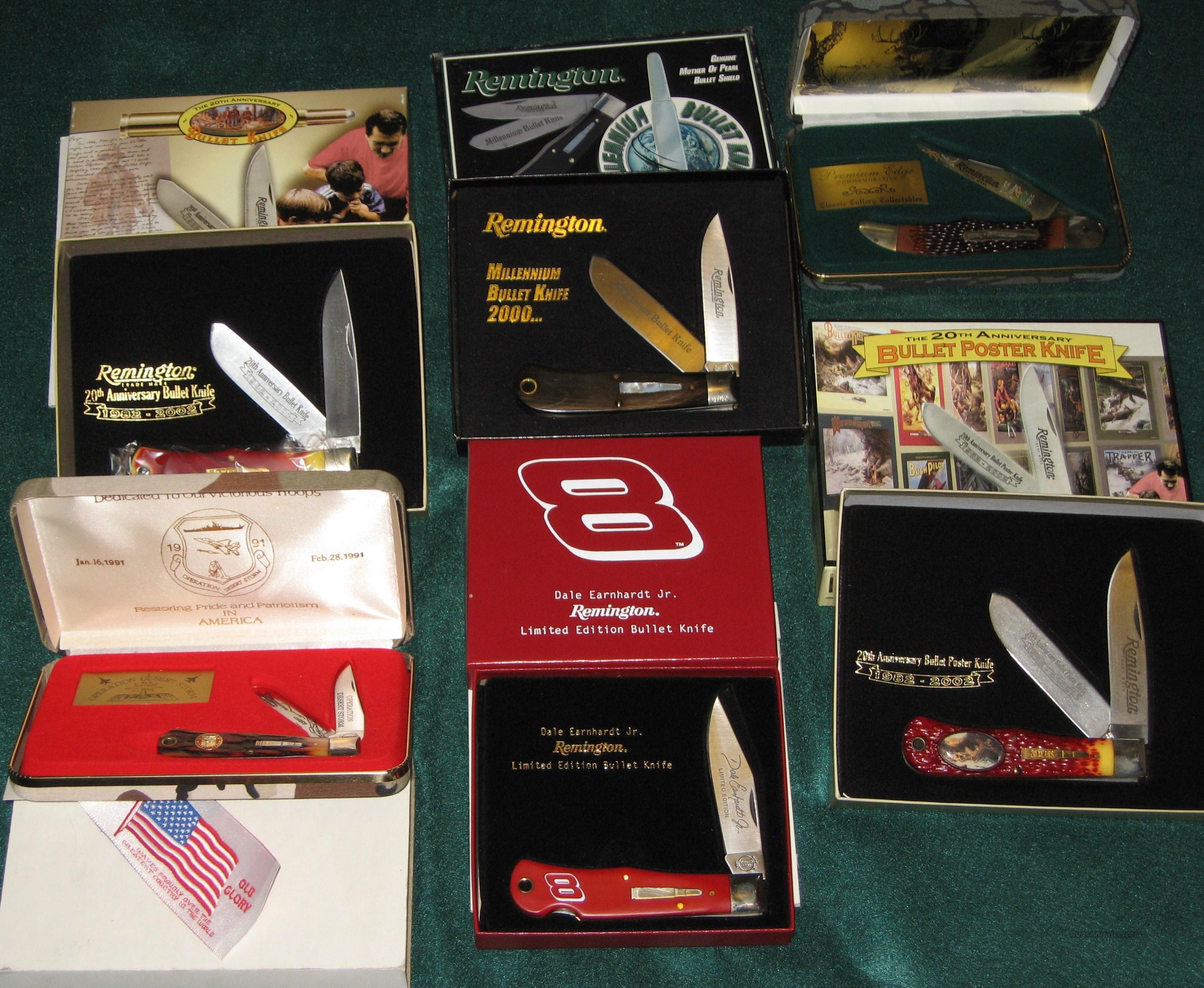 REMINGTON BULLET KNIVES - A COLLECTION OF 49 KNIVES - ALL NIB