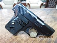 COLT 1908 BABY HAMMERLESS .25ACP.(MFG 1921) UNFIRED 99.5% AS NEW