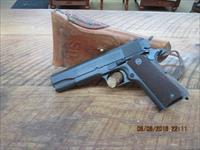 COLT 1911A1 (1942 PRODUCTION) 45ACP. U.S.ARMY 99% ORIGINAL PARKERISING WITH 1942 SEARS HOLSTER.