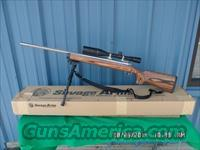 SAVAGE MODEL 12 BVSS 22-250 CAL (FIRED 1 TIME SINCE NEW)SCOPED/ORIGINAL BOX ALL 99% PLUS!