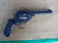 WEBLEY MARK VI 1917 WWI BRITISH SERVICE REVOLVER,CONVERTED FROM .455 TO 45 ACP WITH MOON CLIPS,EXC.SHAPE