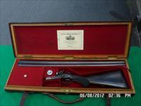 ALEX HENRY BAR ACTION SIDELOCK DOUBLE 12 BORE SHOTGUN 1880'S IN 98% ORIGINAL CONDITION AND CASED!