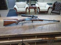 GERMAN PRE-WAR (CIRCA 1936) BURGSMULLER SINGLE SHOT FALLING BLOCK STALKING RIFLE 8.15X46R(30-30WIN.POWER) ALL ORIGINAL CONDITION.