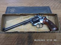 "SMITH & WESSON MODEL 48-2 K-22 MAGNUM MASTERPIECE REVOLVER 8 3/8"" BBL.98% OVERALL,1966 MADE,BOX."