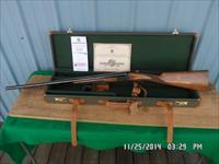 SMITH & WESSON GRADE 1 GOLD ELITE 20GA. SIDE X SIDE EJECTOR SHOTGUN,UNFIRED AS NEW CONDITION IN HARD CASE WITH PAPERWORK.