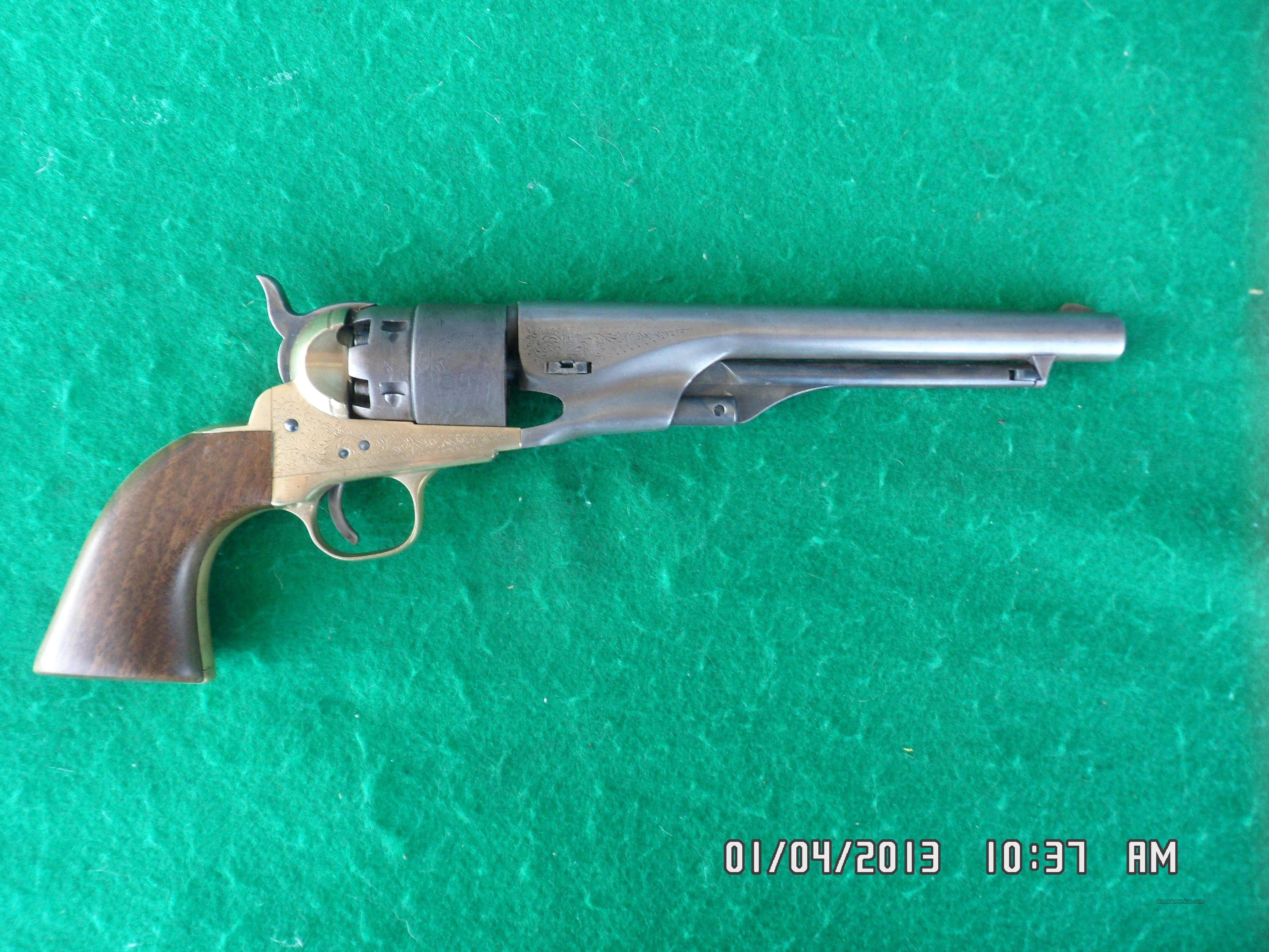 ARMI SAN MARCO /COLT 1860 ARMY REVOLVER ENGRAVE... for sale