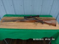 BRNO MODEL 21H RIFLE IN 7X57 MAUSER CAL. CLAW MOUNTED HENSOLDT 4X DIALYTAN SCOPE ALL 99% ORIGINAL CONDITION.