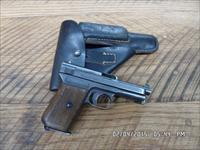 "MAUSER MODEL 1914 M&P PISTOL 7.65MM ""32ACP"" 85% ORIGINAL BLUE,NICE PERIOD MILITARY HOLSTER."
