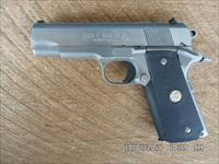 COLT STAINLESS MK IV SERIES 80 SUPER 38 AUTO COMBAT COMMANDER,EXCELLENT ORIGINAL CONDITION.