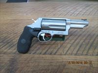 "TAURUS ""THE JUDGE"" STAINLESS 45 LC / 410 GA. 3"" 5 SHOT REVOLVER WITH CRIMSON TRACE LAZER GRIPS ALL 99% CONDITION,NO BOX."