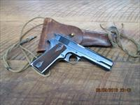 COLT 1911 COMMERICAL (1917 MANUFACTURE) 45ACP. ALL CORRECT WITH U.S.GOV'T HOLSTER 96 TO 97% ORIG.COND.