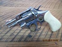 ARMINIUS HW3 OMEGA 32 S&W LONG GERMAN MADE 7 SHOT REVOLVER,CHROME FINISH 98% OVERALL.