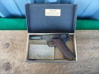 "HIGH STANDARD 1947 H-D MILITARY 4 1/2"" 22L.R. PISTOL IN ORIGINAL BOX AND PAPERWORK 98% PLUS CONDITION."