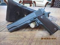COLT MODEL 1911A1 U.S.ARMY (1942 PRODUCTION) 45 ACP. 95% PLUS OVERALL ORIGINAL COND. W/ ARMY HOLSTER.
