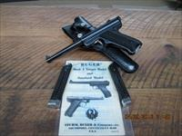 RUGER MARK 1 STANDARD SEMI-AUTO 22 L.R. PISTOL ( MFG.IN 200TH YEAR OF AMERICAN LIBERTY) AS NEW 99.5% ALL ORIGINAL WITH 3 FACTORY MAGS ,HOLSTER AND ORIG.MANUEL!