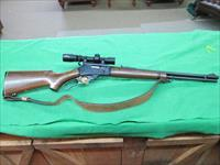MARLIN 336 30-30 JM STAMPED WITH LEATHER SLING BURRIS SCOPE.