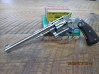 "SMITH & WESSON 32 S&W LONG HAND EJECTOR THIRD MODEL (MFG. 1940) ""RARE"" ORIGINAL NICKEL FINSH IN 95% PLUS CONDITION."