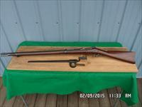 "U.S.SPRINGFIELD MODEL 1884 TRAPDOOR 45-70 GOV'T ""LOOKS UNISSUED"" W/BAYONET,SCABBARD AND FROG. ALL 95% PLUS ORIG.COND."