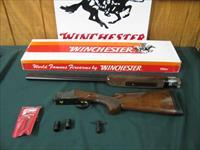 6545 Winchester 101 American Flyer Live Bird 12 gauge 28 inch barrels, top bl is extra full, bottom barrel screw chokes mod/full wrench pouch,vent rib, ejectors,pistol grip,Winchester butt pad, correct Winchester serialized box. lustrous bl