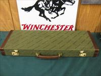 6333 Winchester 101 or 23 case, will take 26 inch barrels, leather trim with keys, 98-99%