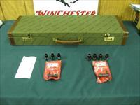 6232 Winchester 101 HUNT SET 12ga/20ga Winchester case 99%, 20gauge 26 barrels ic,mod full, 12 gauge 28 inch barrels ic m f sf,2 wrenchs 2 pouches,correct Winchester case, quail/ducks engraved on blue receiver AA++FANCY FEATHERCROTCH WALNUT