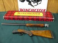 6266 Winchester 101 20 gauge 26 inch barrels sk1/sk2 2 3/4 & 3 inch chambers, vent rib ejectors, RED W on pistol grip cap, Decelerator pad , lop 14 1/8,bores brite and shiny,first 3 years of mfg. wrong box, 98% condition,AA FANCY WALNUT SEL