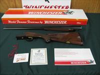 6349 Winchester 23 Classic 410 gauge 26 inch barrels, mod/full 3 inch chambers, vent rib, pistol grip with cap, single select trigger, ejectors, GOLD RAISE RELIEF QUAIL BOTTOM OF RECEIVER.new in correct serialized Winchester box with papers