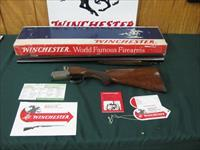 6350 Winchester Pigeon XTR 12 gauge 28 inch barrels,3 inch chambers, Round knob, ejectors, single select trigger, vent rib, Winchester butt pad, all original, AA++Fancy figured Tiger striped walnut, in correct serialized Winchester box, all