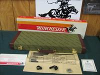 6083 Winchester Grand European Double Express rifle 270/270.24 inch barres, rings&bases and keys. Target dated May 1983. Correct Winchester case and box.2 pamplets, boar left stag right,big horn bottom of coin siver receiver, AAA+Fancy TIGE