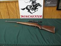 6677 Savage Sporter 22 long rifle,Bushnell 3x9 scope,nice combo, bores brite shiny 7-8 of 10 steel original butt plate with Savage Indian with full war bonnet. nice condition.