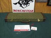 6763 Winchester 101 NATIONAL WILD TURKEY FOUNDATION CASE, will take 28.5 inc barrels, keys, HANG TAG CORRECT FOR NWTF, brochure, leather trim 98% condition. RARE TO FIND ,,,,, ONLY 300 MFG......