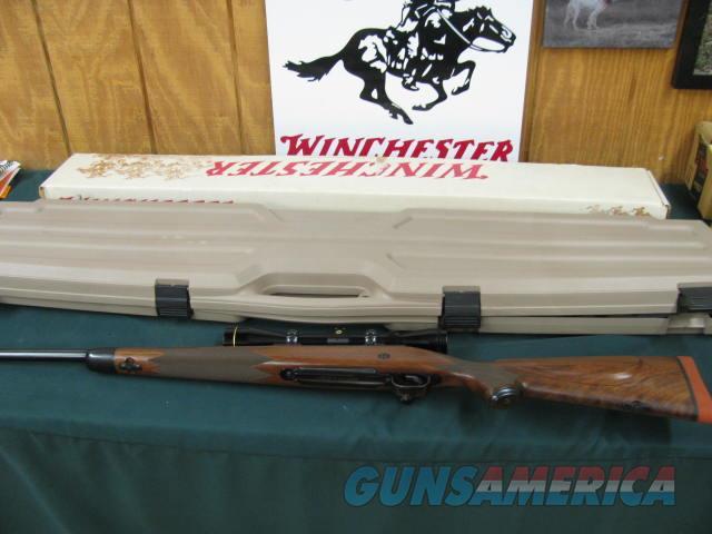 6129 Winchester Model 70 Super Grade 270 caliber 24 inch barrel NEW IN BOX  pre 64 mauser claw extractor, AA+Fancy walnut, Leupold 3x9 scope, hard