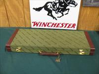 6164 Winchester Grand European DOUBLE EXPRESS RIFLE 270/270, Leupold scope 1.75x6x32, rings bases, BEAUTIFUL TIGER STRIPED WALNUT IN STOCK AND FOREND. correct Winchester case.lens covers, game scene coin silver engraved receiver, one of the