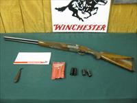 6135 Winchester 23 Pigeon XTR 20 gauge 26 inch barrels, sk ic mod full winchokes,wrench,pouch,paper, round knob coin silver rose and scroll engraved receiver, ejectors, single select trippger Winchester butt pad, all original,vent rib, A+Fa