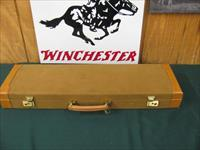 6368 Winchester 23 GOLDEN QUAIL 410 gauge 26 inch barrels m/f STRAIGHT GRIP, solid rib, single select trigger, Winchester butt pad, all original. GOLD RAISED RELIEF QUAIL ON RECEIVER, correct Golden Quail Case. AA++FANCY HIGHLY FIGURED WALN
