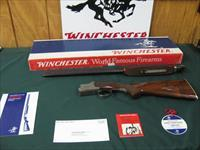 6541 Winchester 101 Pigeon XTR 20 gauge 27 inch barrels, 2 3/4 chambers, skeet/skeet, test fired only, 99% AS NEW IN BOX, all papers, hang tag,pamphlets, correct Winchester serialized box to the gun. dark walnut and diamond tipped engraving