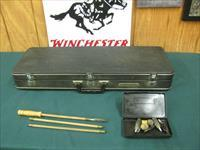 6907 Winchester 101 SKEET SET all are 28 inch barrels, 20 gauge, 28 gauge, 410 gauge, 97% condition,Wincased,skeet/skeet, cleaning rod/tips,single front brass bead, White line pad, lop 14 1/2,bores/brite/shiny,opens/closes tite. excellent c
