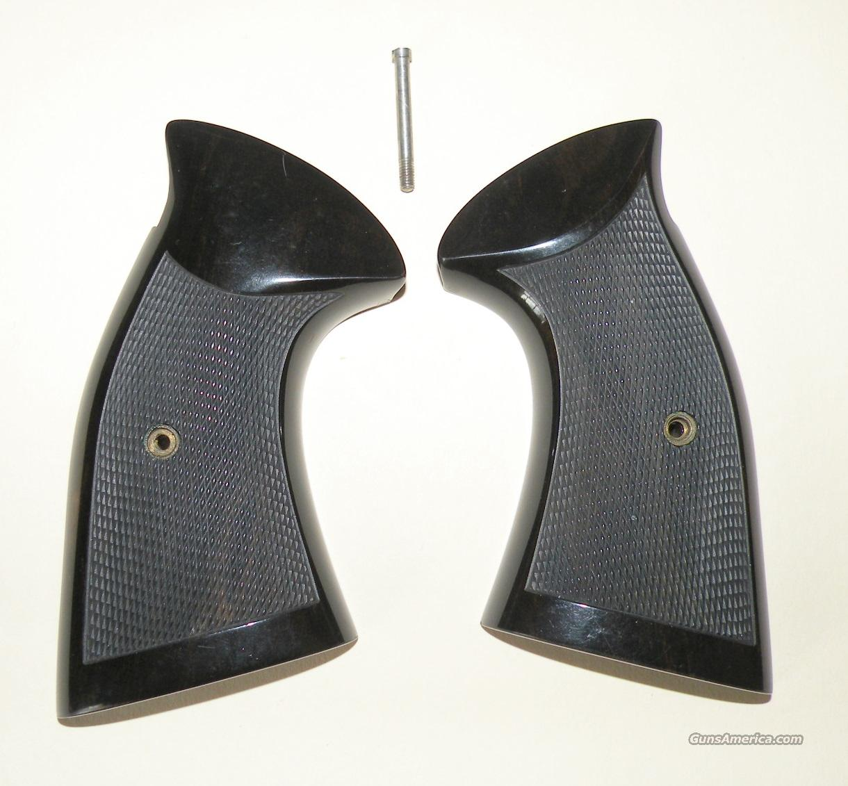 Smith & Wesson K-Frame, CUSTOM HAND MADE EBONY GRIPS ONLY