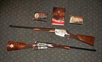 WINCHESTER SPECIAL EDITION THEODORE ROOSEVELT MODEL 1895 CUSTOM GRADE SAFARI CENTENNIAL 1909-2009 2 RIFLE SET, 405 WIN