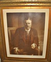 THEODORE ROOSEVELT PHOTO GRAVUARE IN ORIGINAL FRAME