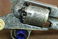 Engraved & Silver Plated Remington New Model Army wth carved Ivories