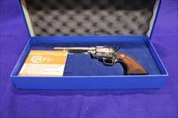 "Colt P 1956  5.5"" 44-40 Bright Nickel Walnuts original box & sleeve"