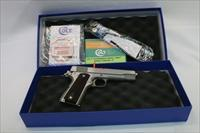 Colt 70 Series Stainless .45 acp as new Custom shop box