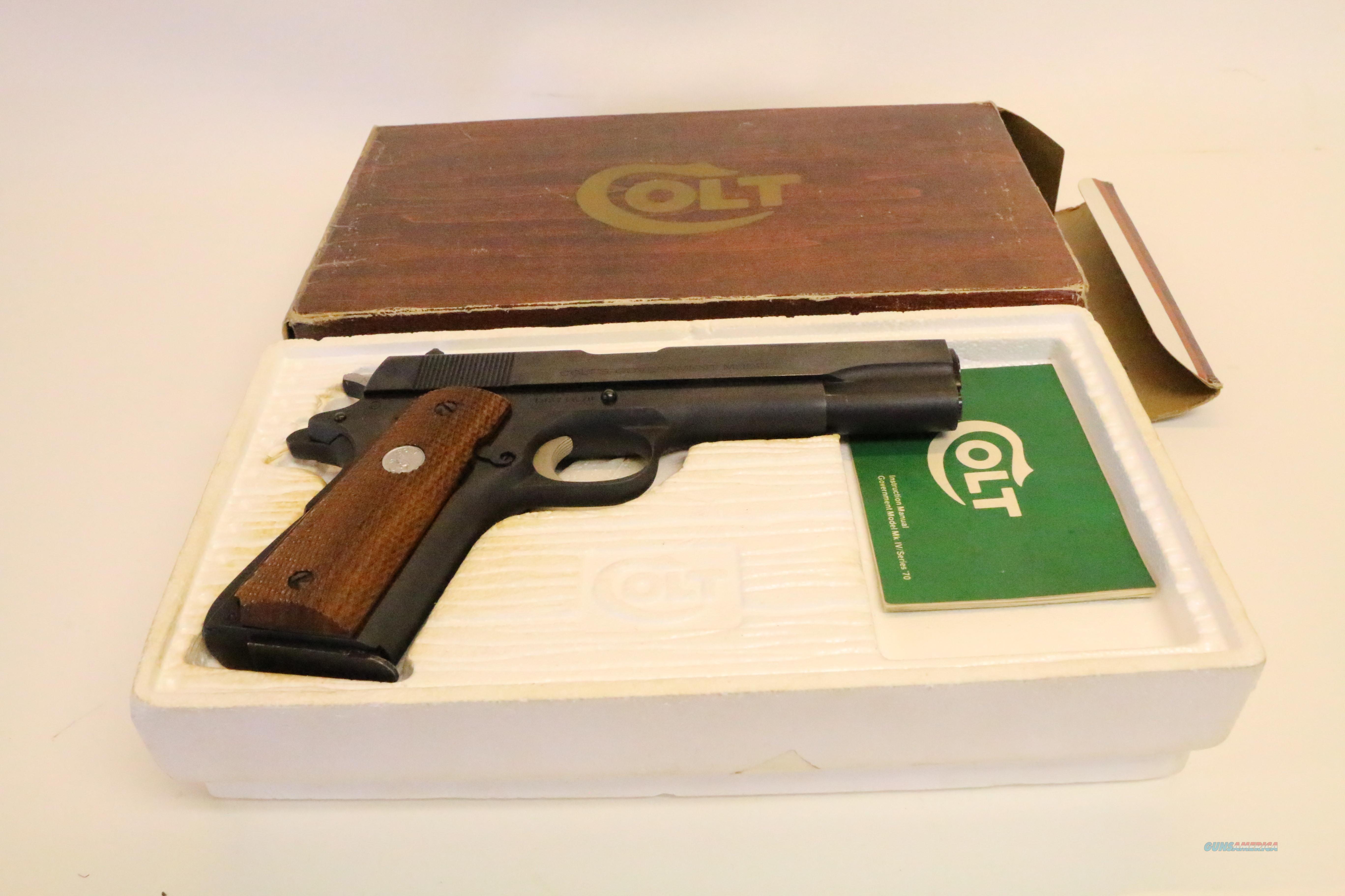 Minty 1976 NIB 70 Series Colt 1911 Government Model in Original Box
