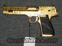 Desert Eagle titanium gold, tiger striped finish