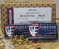 FIOCCHI SHOOTING DYNAMICS 380 AUTO 95 GRS FMJ 1000 ROUND CASE