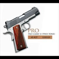 KIMBER PRO CARRY II TWO TONE 45 ACP NEW IN HARD CASE