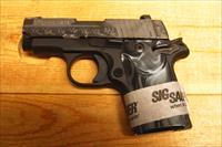 "Sig Sauer P238 ""Black Pearl"" w/night sights, high polished engraved slide"