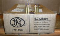 2000 rds FNH 5.7x28mm made by Hornady  40 gr. V-Max bullet  FREE SHIPPING