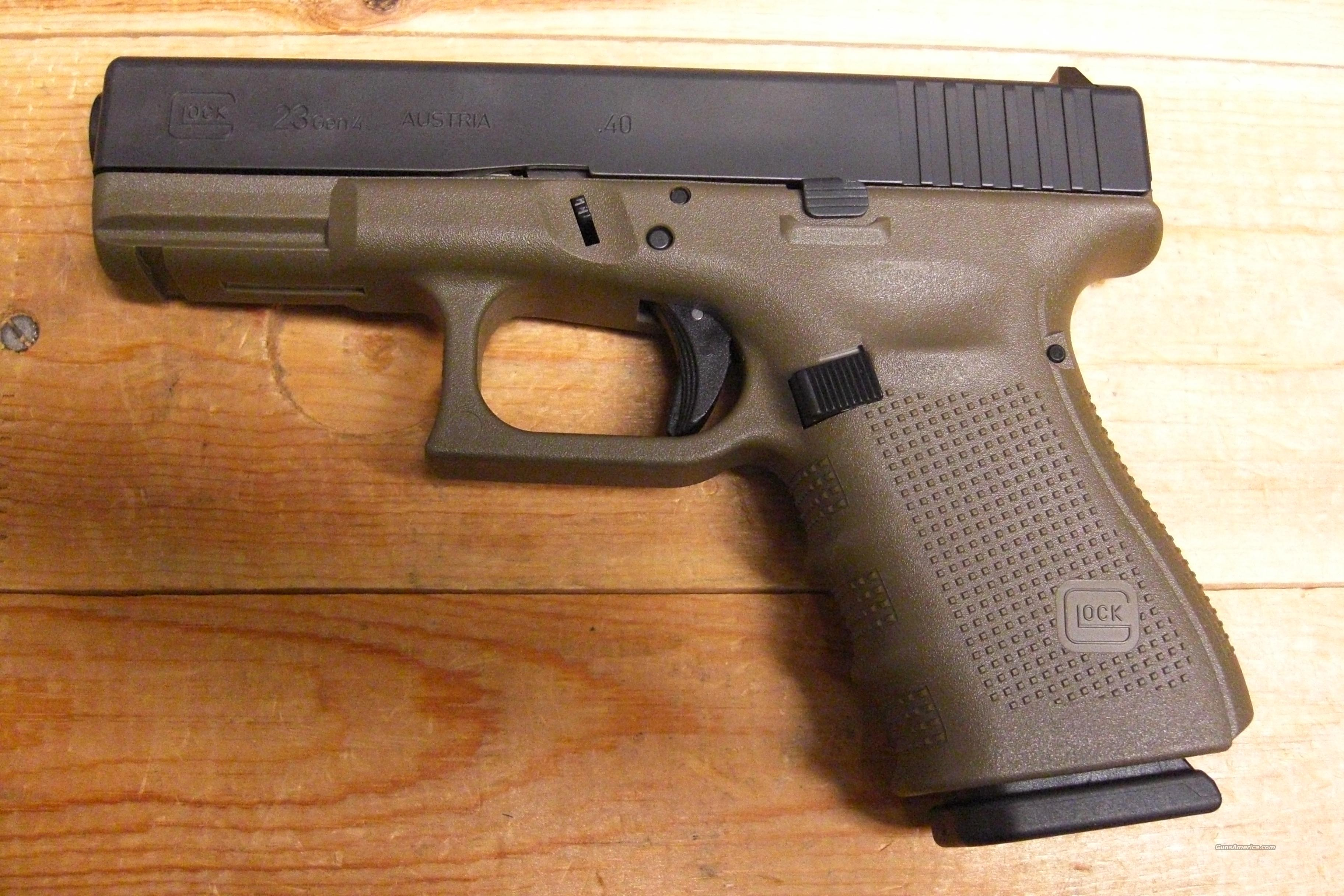 23 Gen 4 OD green frame w/3 13 rd. mags. for sale